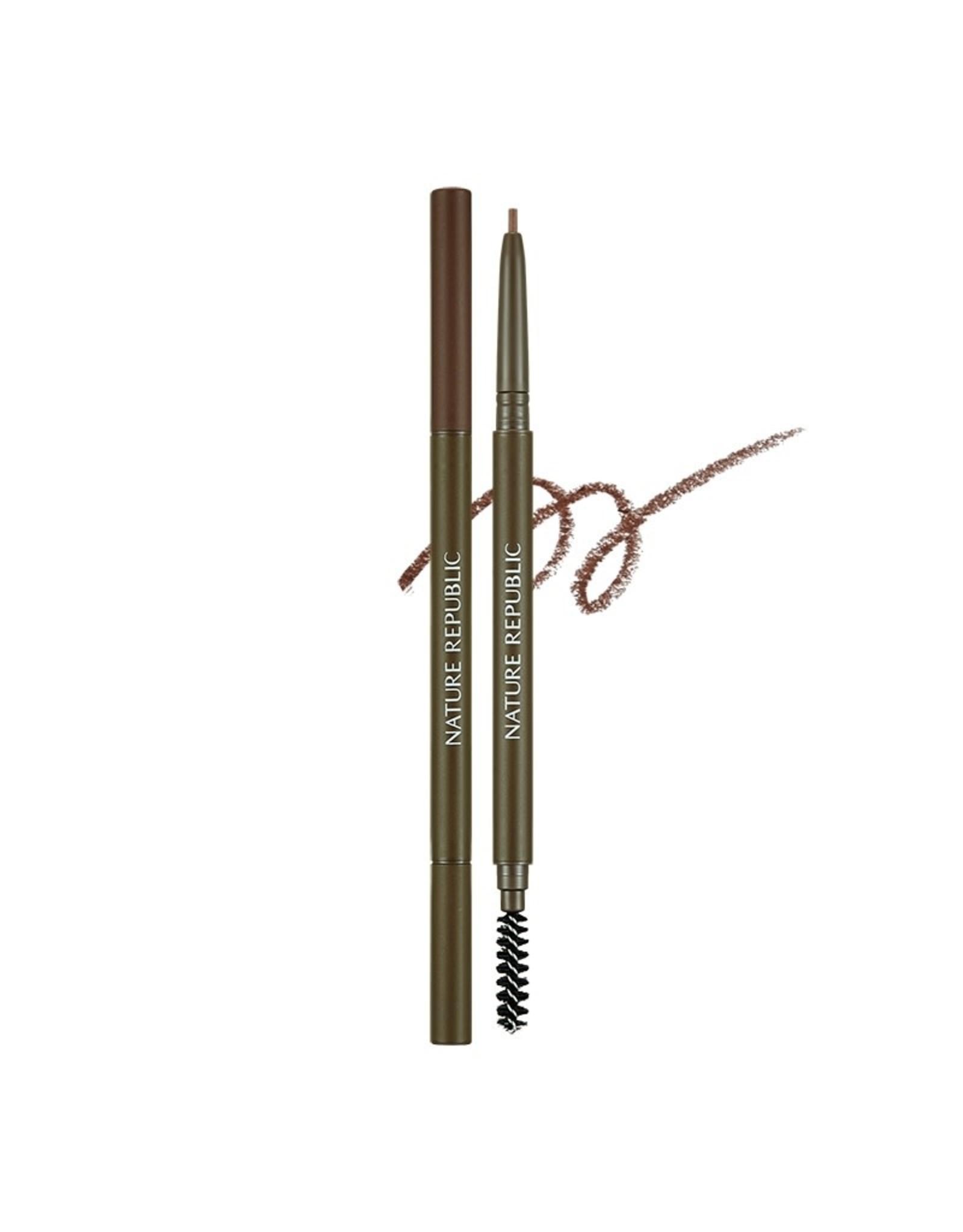 Micro Slim Brow Pencil 02 Redbean Brown