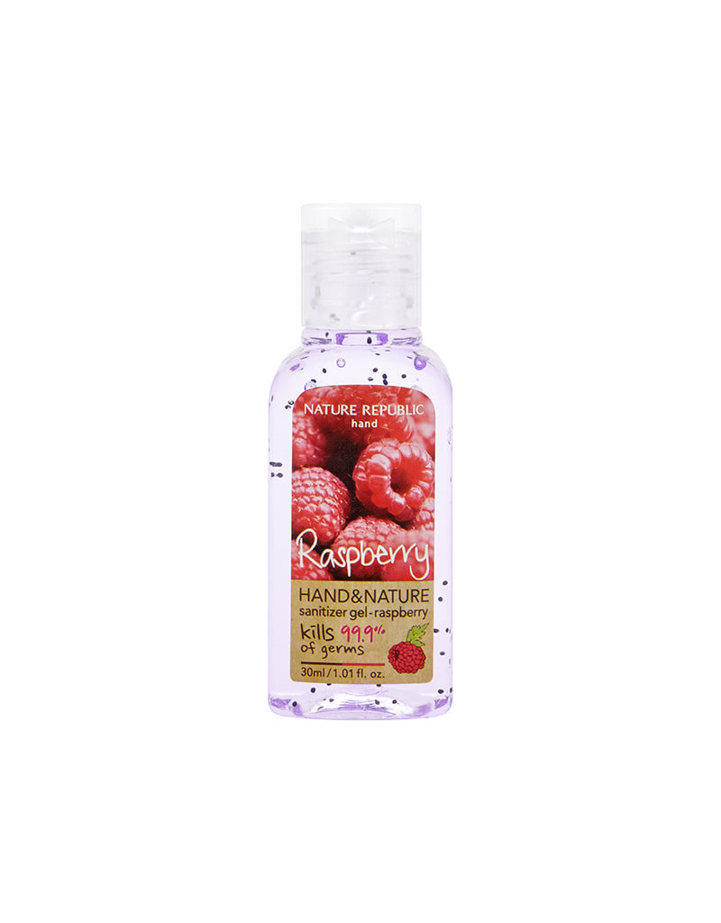 Hand & Nature Sanitizer Gel-Raspberry