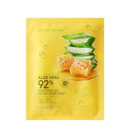 Aloe Vera 92% Soothing Gel Honey Mask Sheet