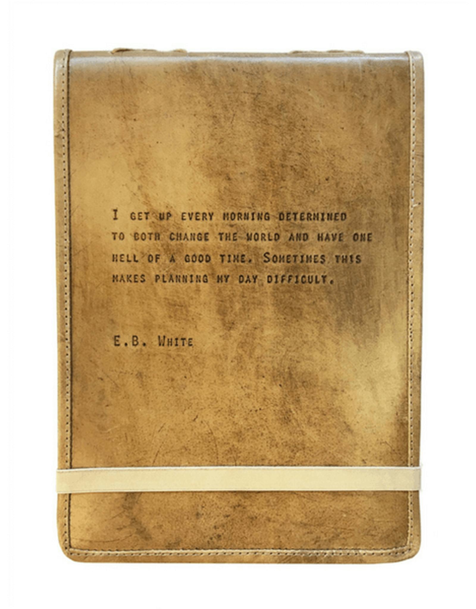 SB-Co E.B. White Leather Journal