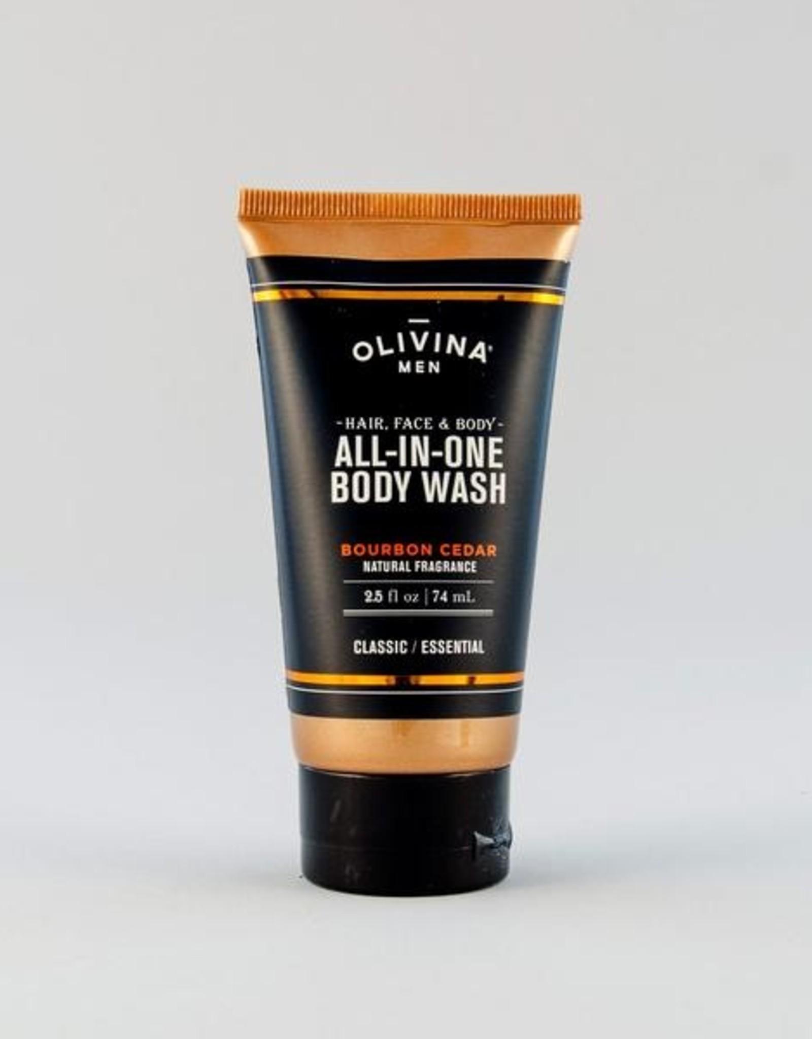 OM All-In-One Body Wash-Bourbon Cedar 2.5oz