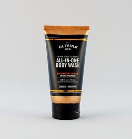 OM All-In-One Body Wash-Bourbon Cedar 2.5oz