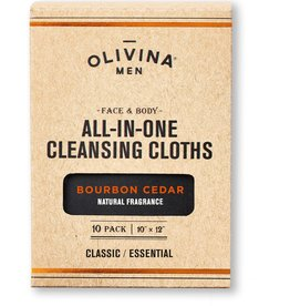 OM Cleansing Cloths-Bourbon Cedar