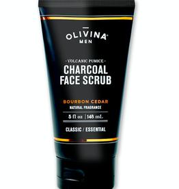 Olivina Men Charcoal Face Scrub-Bourbon Cedar