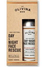Olivina Men Day & Night Face Rescue-Bourbon Cedar