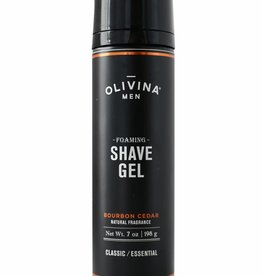 Olivina Men Shave Gel-Bourbon Cedar
