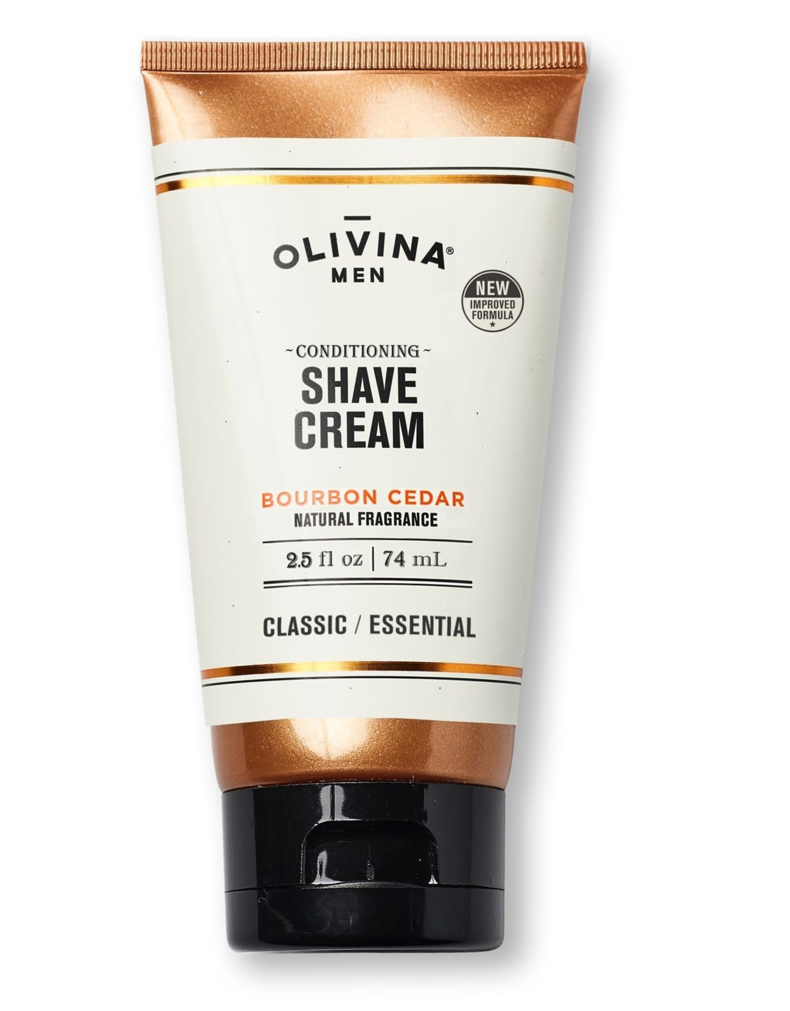 Olivina Men Shave Cream-Bourbon Cedar