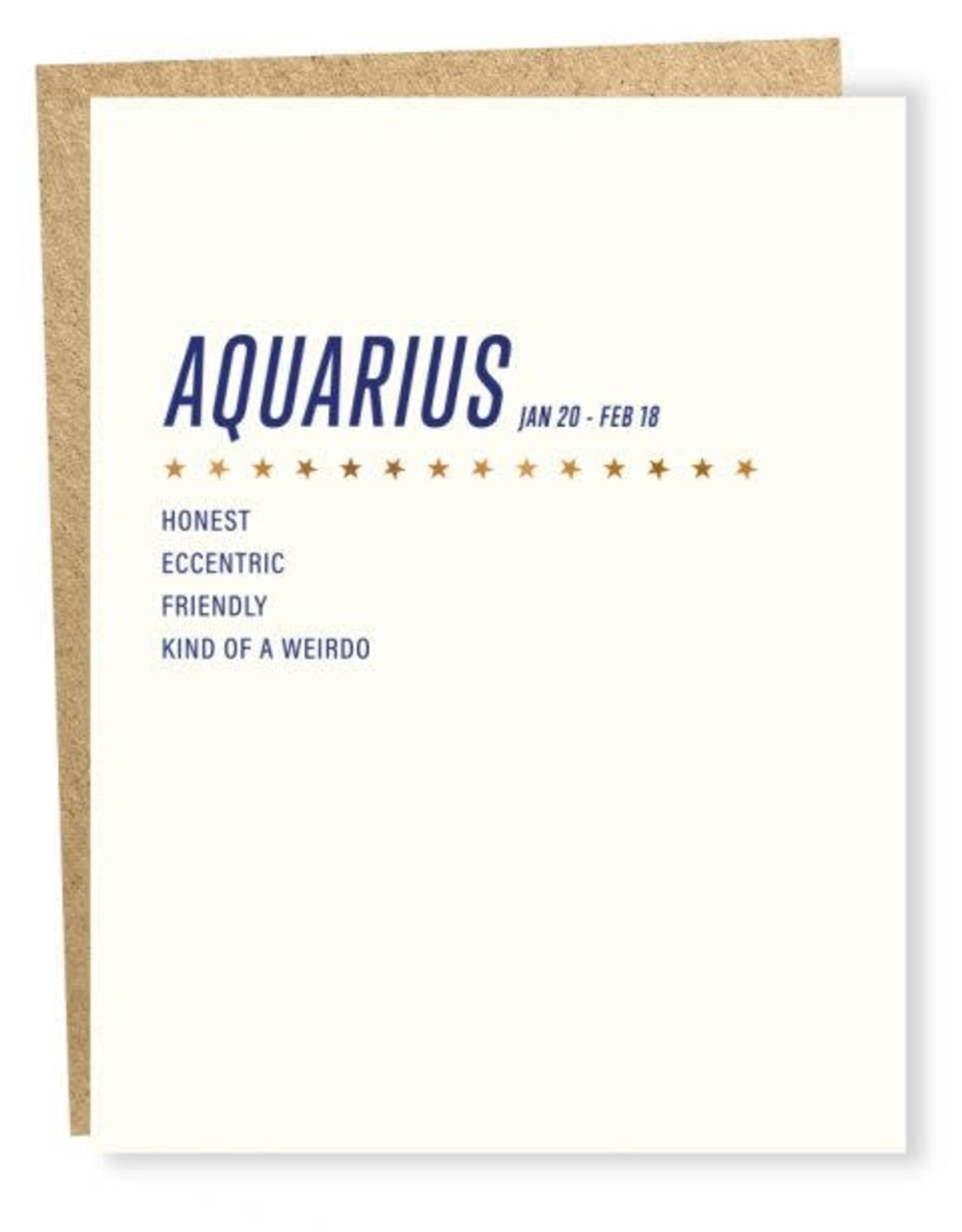 Sapling Press Aquarius Card