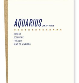 Sapling Press Aquarius Card