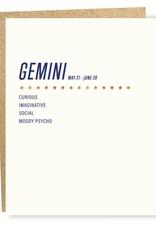 Sapling Press Gemini Card