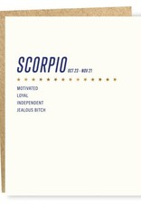 Sapling Press Scorpio Card