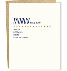 Sapling Press Taurus Card