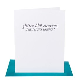 Paper Epiphanies Glitter And Cleavage Card