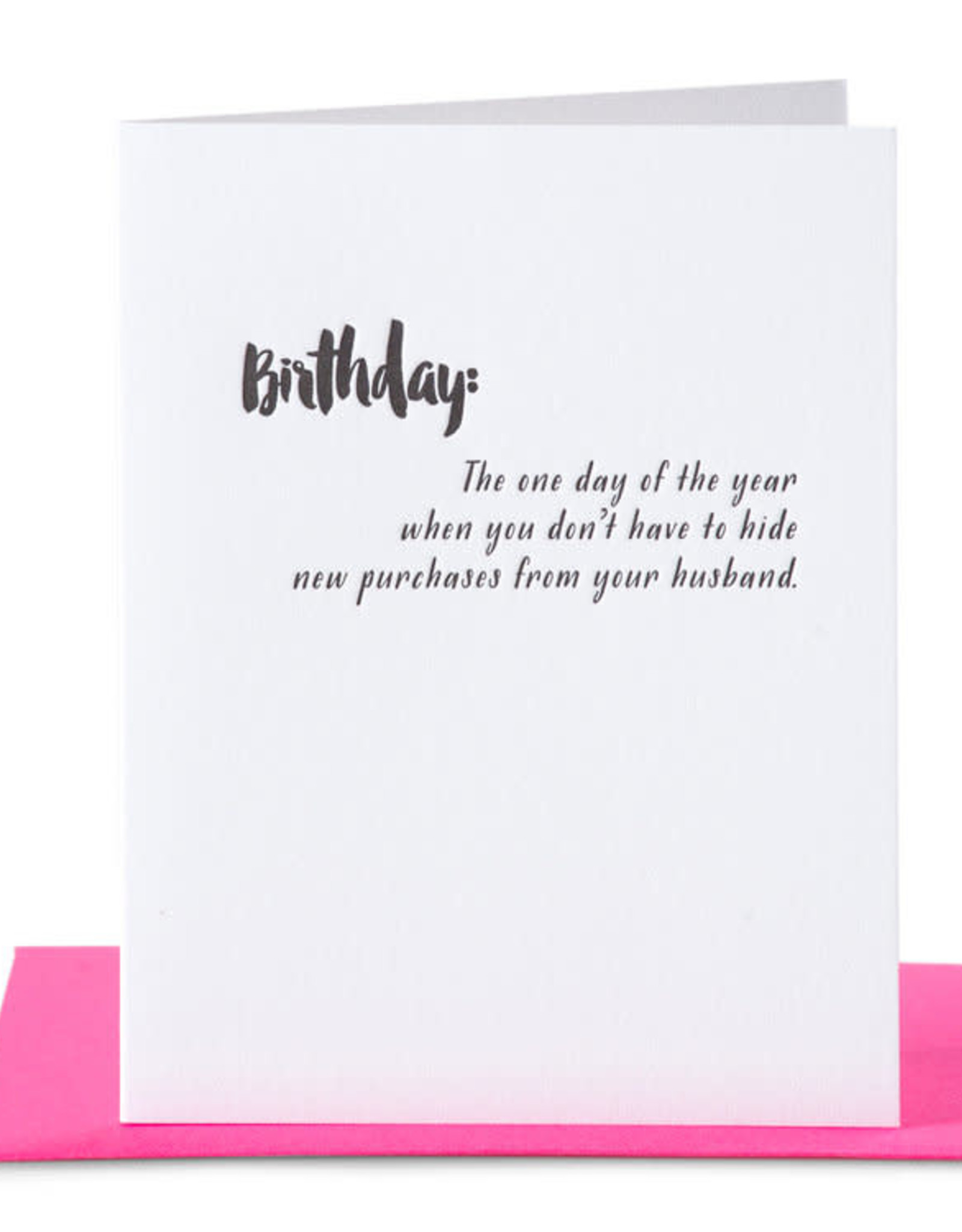Paper Epiphanies Hide Purchases Card