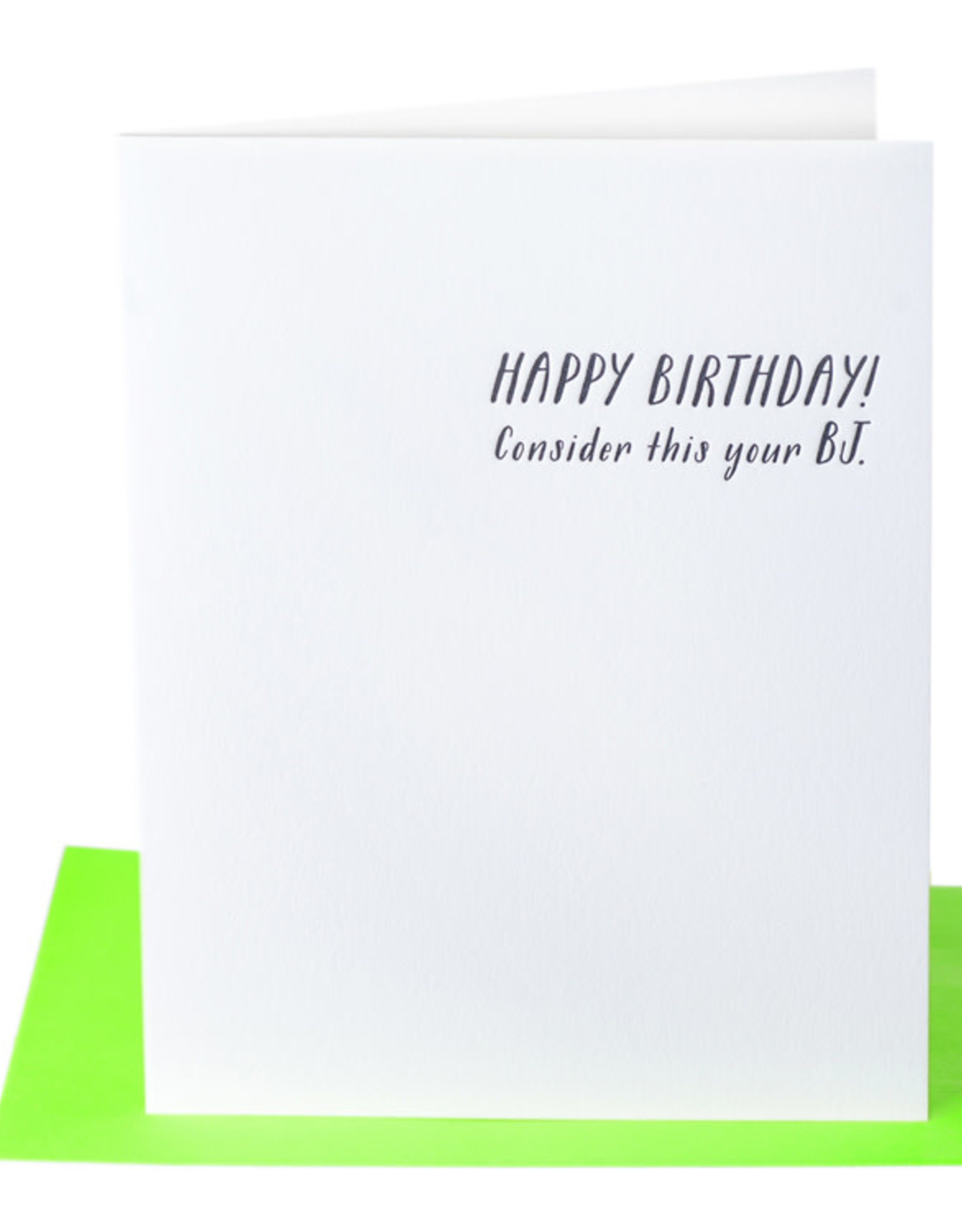 Paper Epiphanies Consider this your BJ Card