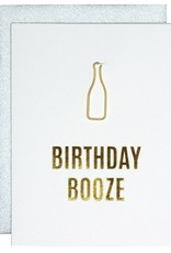 Chz-Ggn Birthday Booze Card - Gold Lettering