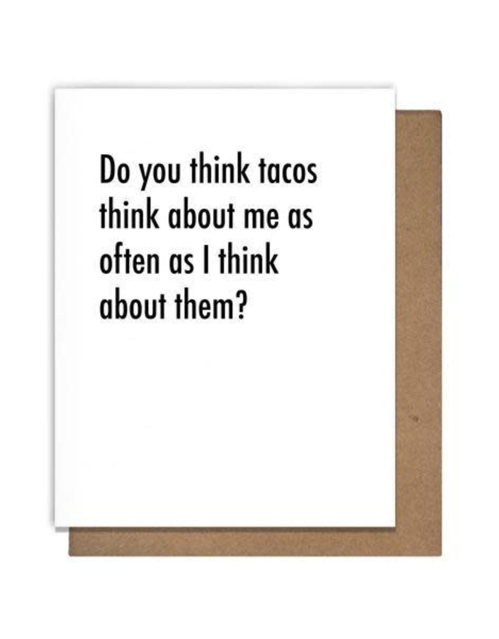 The Matt Butler Do You Think Tacos Card