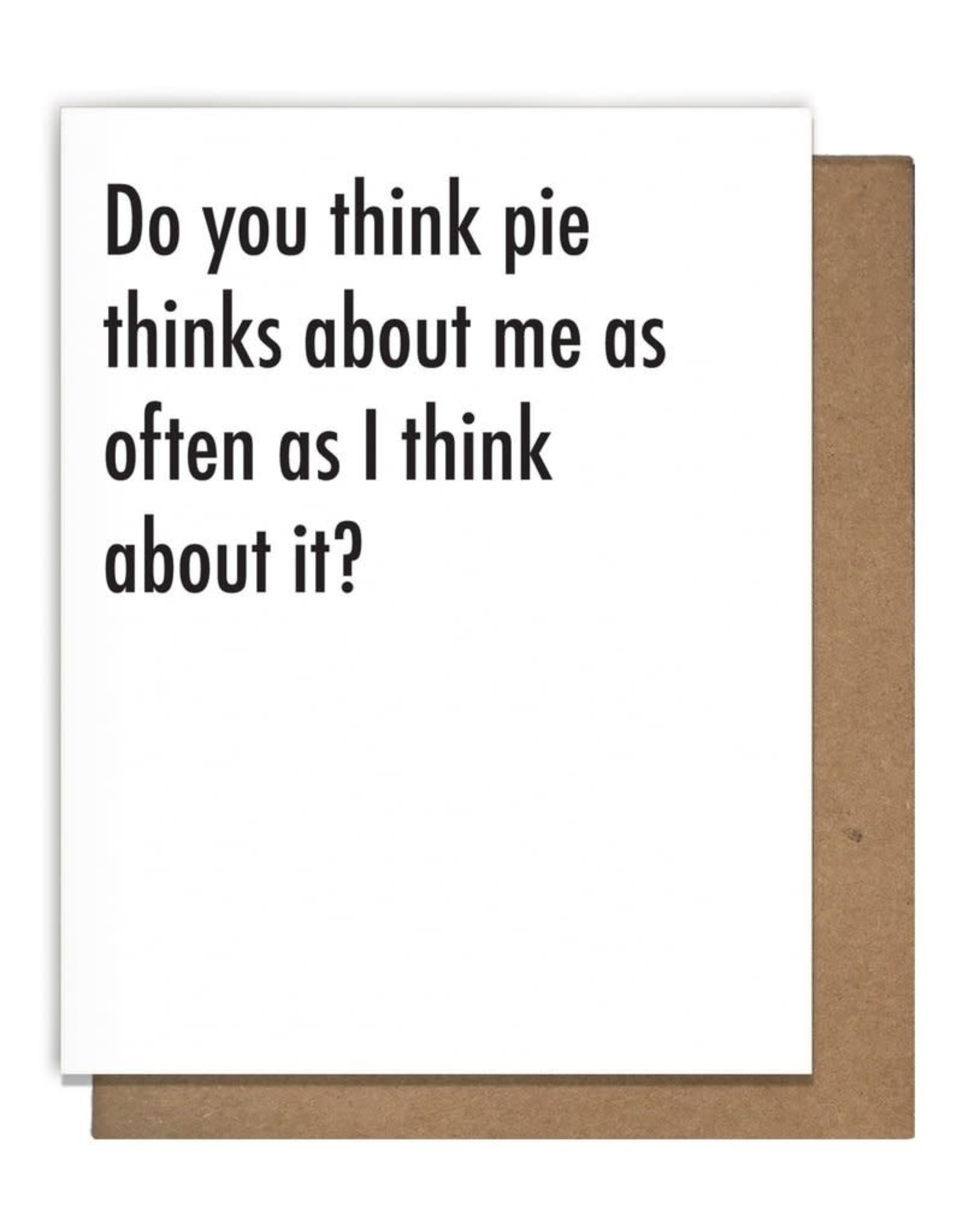 The Matt Butler Do You Think Pie Card