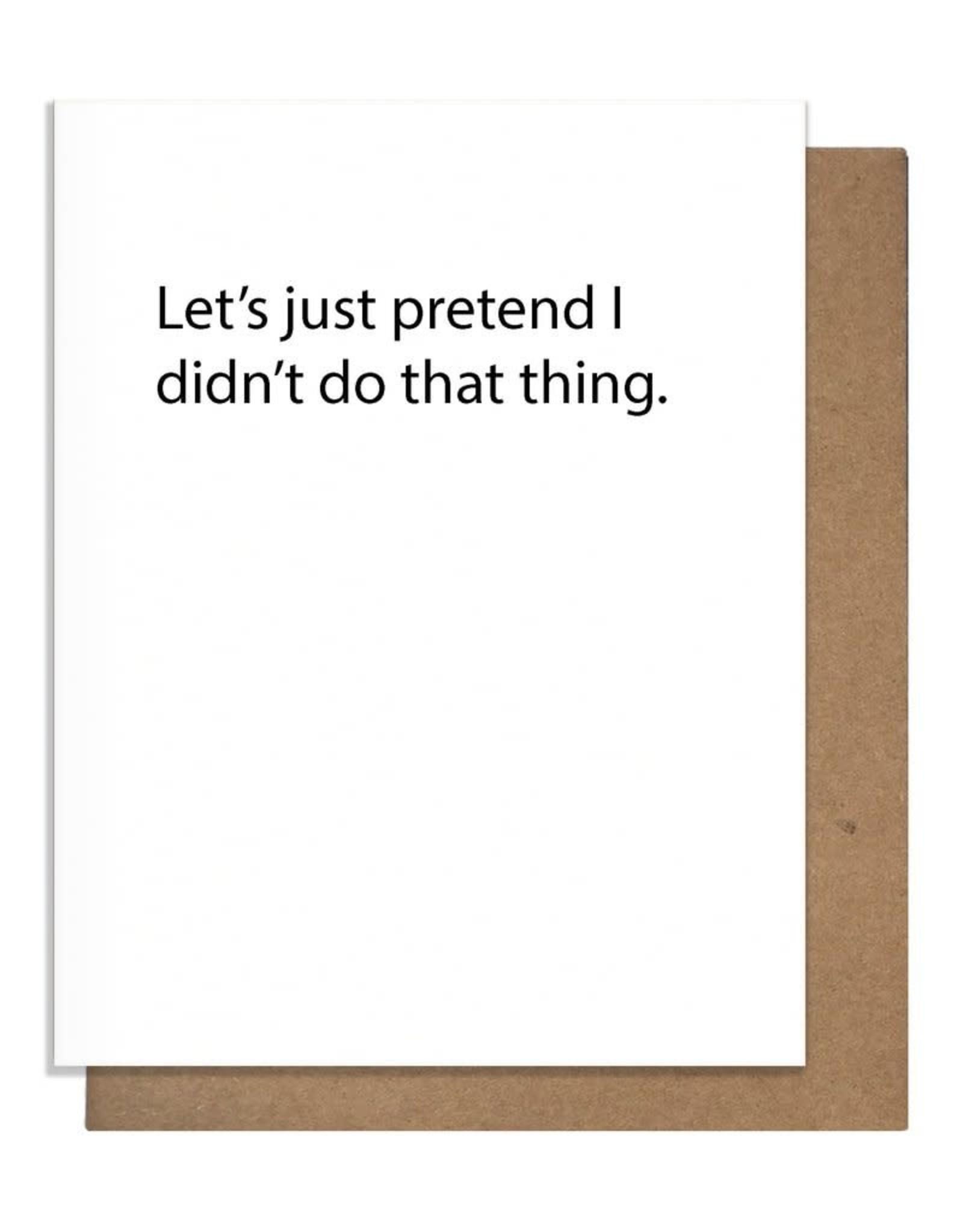 The Matt Butler Let's Just Pretend Card