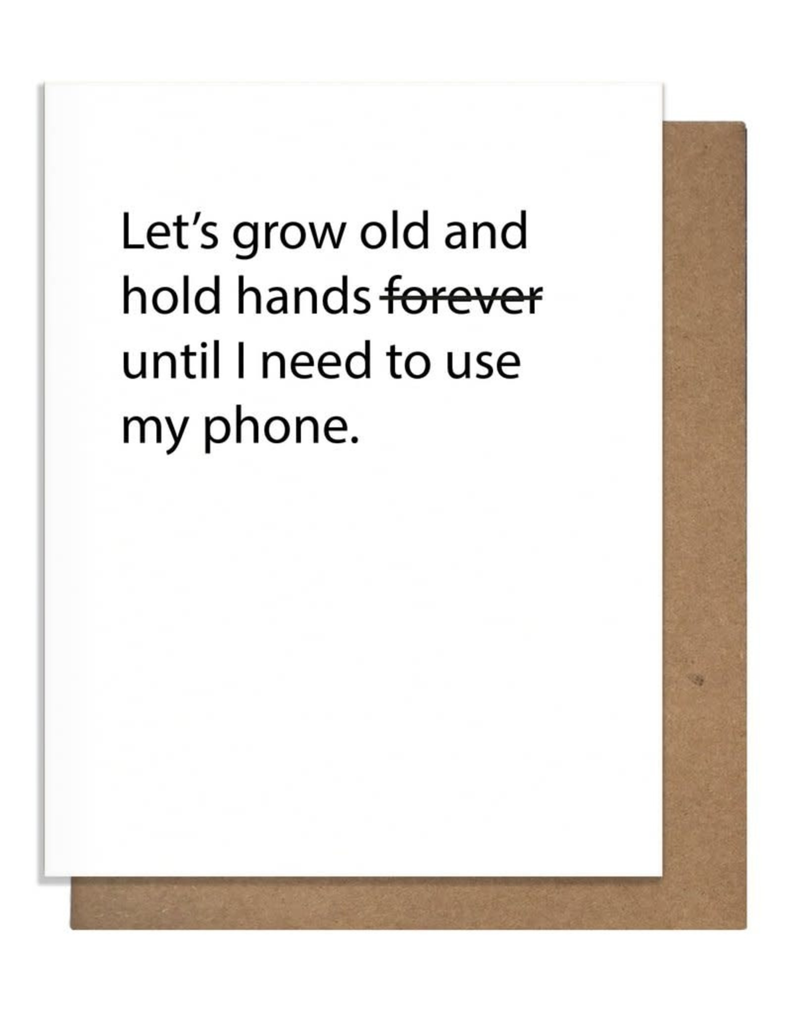 TMa-Btlr Let's Grow Old And Hold Hands Card