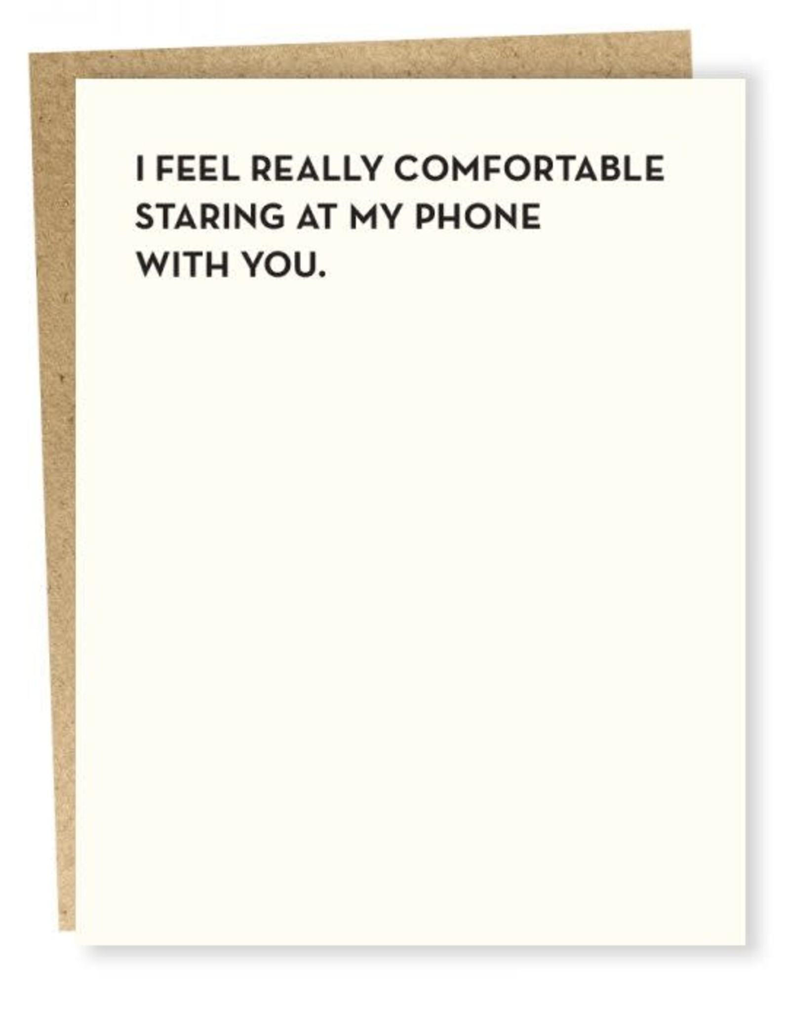 Sap-P I Feel Really Comfortable Card