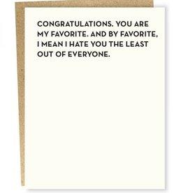 Sap-P Congratulations. You Are Card