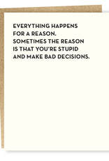 Sap-P Bad Decisions Card