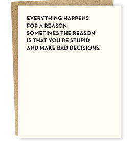 Sapling Press Bad Decisions Card