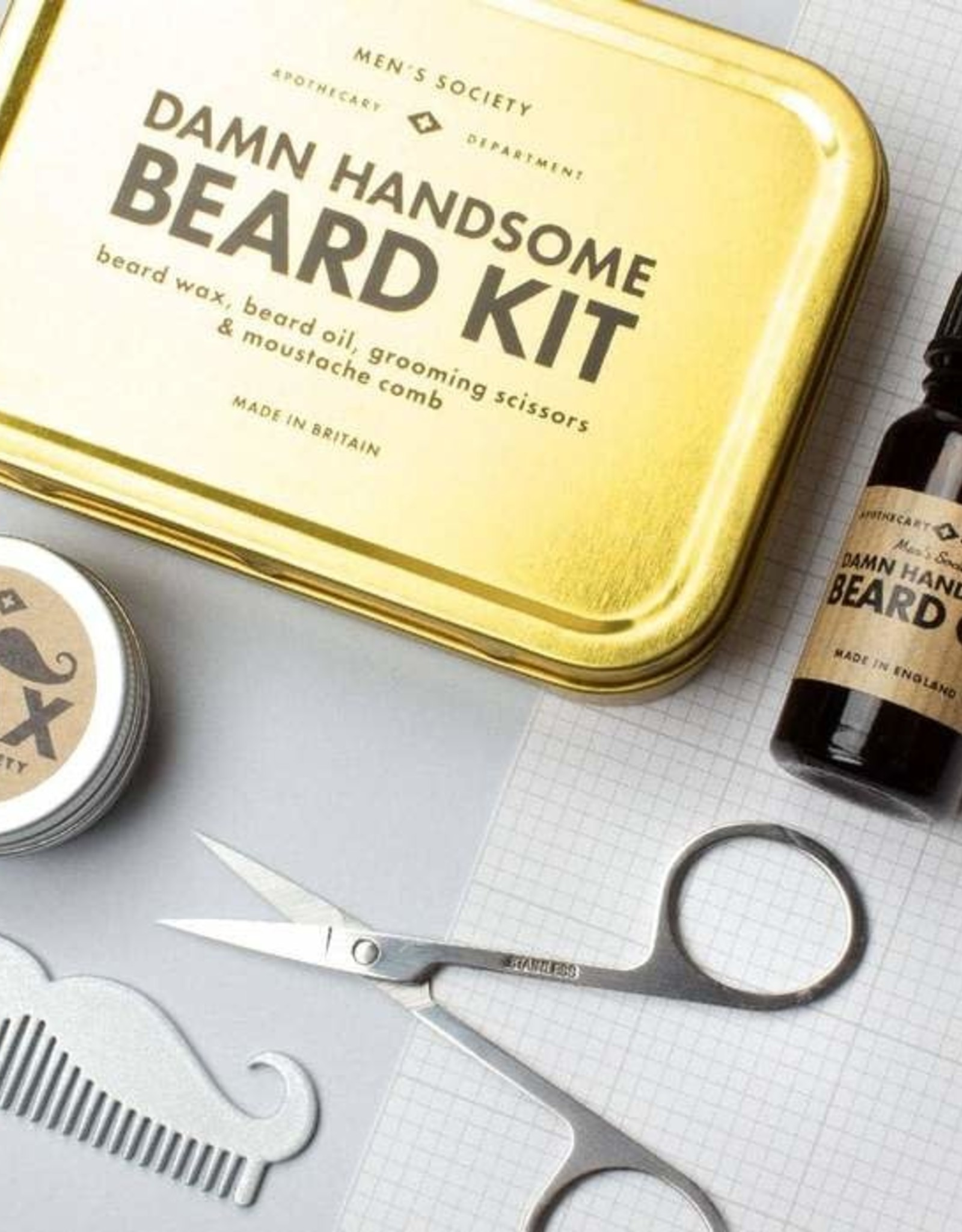 M-Soc Damn Handsome Beard Kit