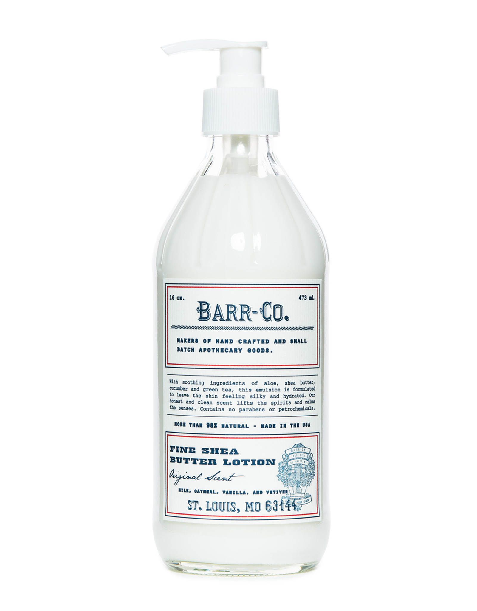 Barr-Co Hand & Body Shea Butter Lotion Original Scent