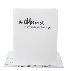 Paper Epiphanies The Older You Get, The Card