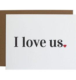 Chz-Ggn I Love Us Card