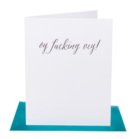 Paper Epiphanies Oy Fucking Vey Card