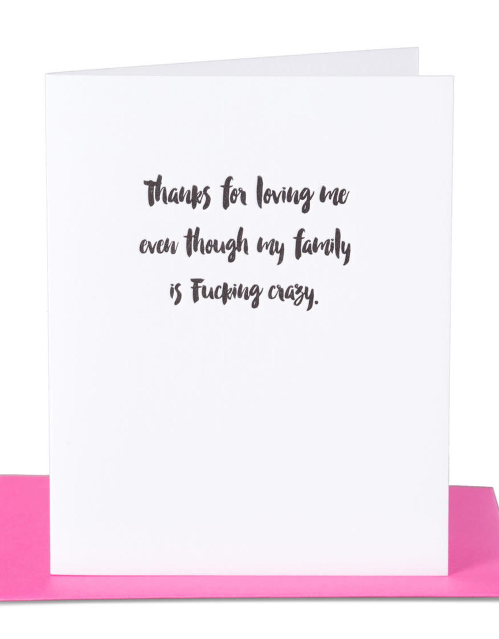 Pa-Epi Thanks for Loving Me Even Card