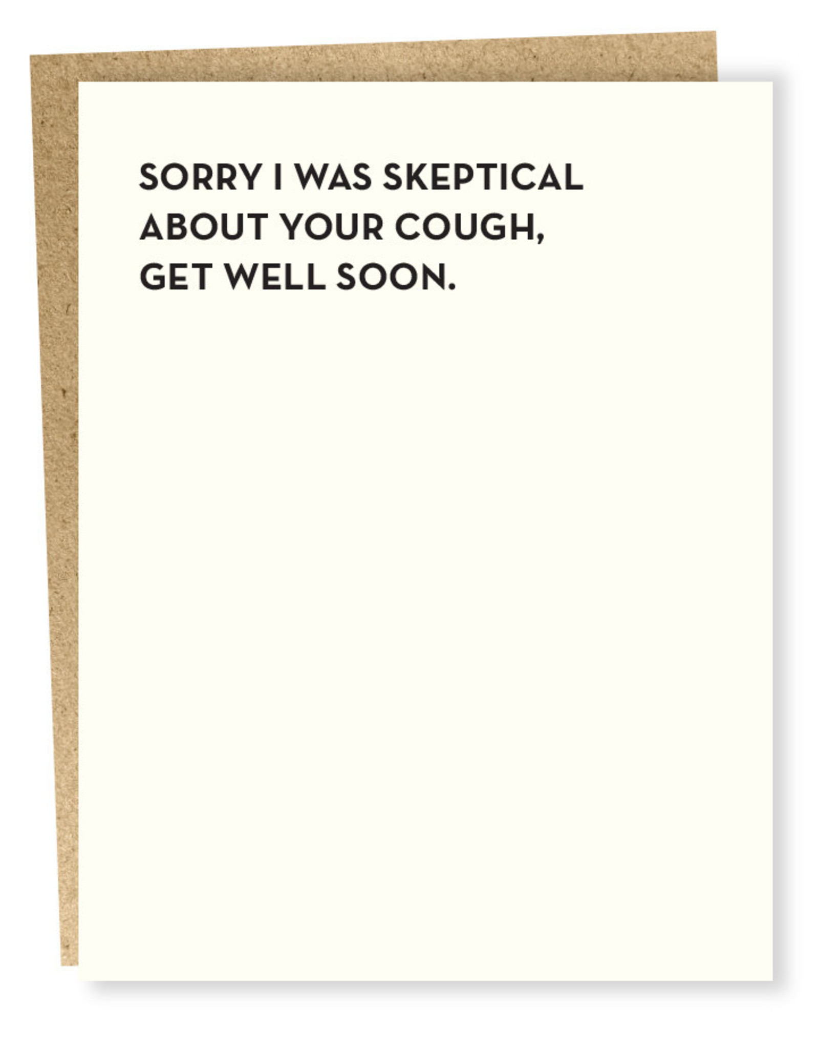 Sapling Press Sorry I Was Skeptical Card