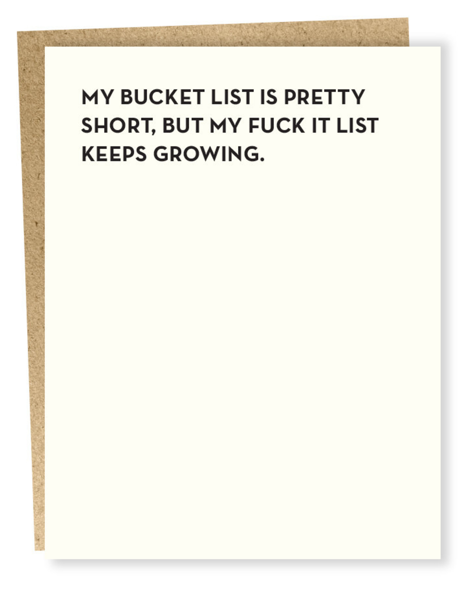 Sapling Press My Bucket List Is Pretty Short Card