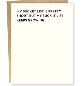 Sap-P My Bucket List Is Pretty Short Card
