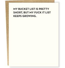 Sapling Press My Bucket List Is Pretty Short Card