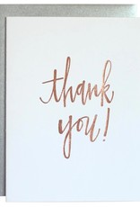 Chez Gagne Thank You! Card - Rose Gold