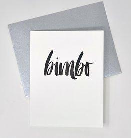 Paper Epiphanies Bimbo Card
