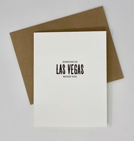 Sapling Press Someone in Las Vegas Misses You Card