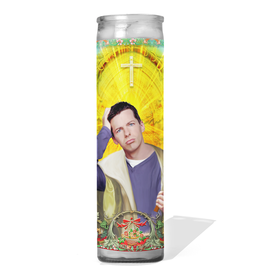 Calm Down Caren Jack McFarland Prayer Candle