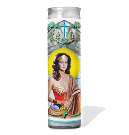 Calm Down Caren Wonder Woman Celebrity Prayer Candle