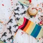 Woven Pear Unicorns and Rainbows