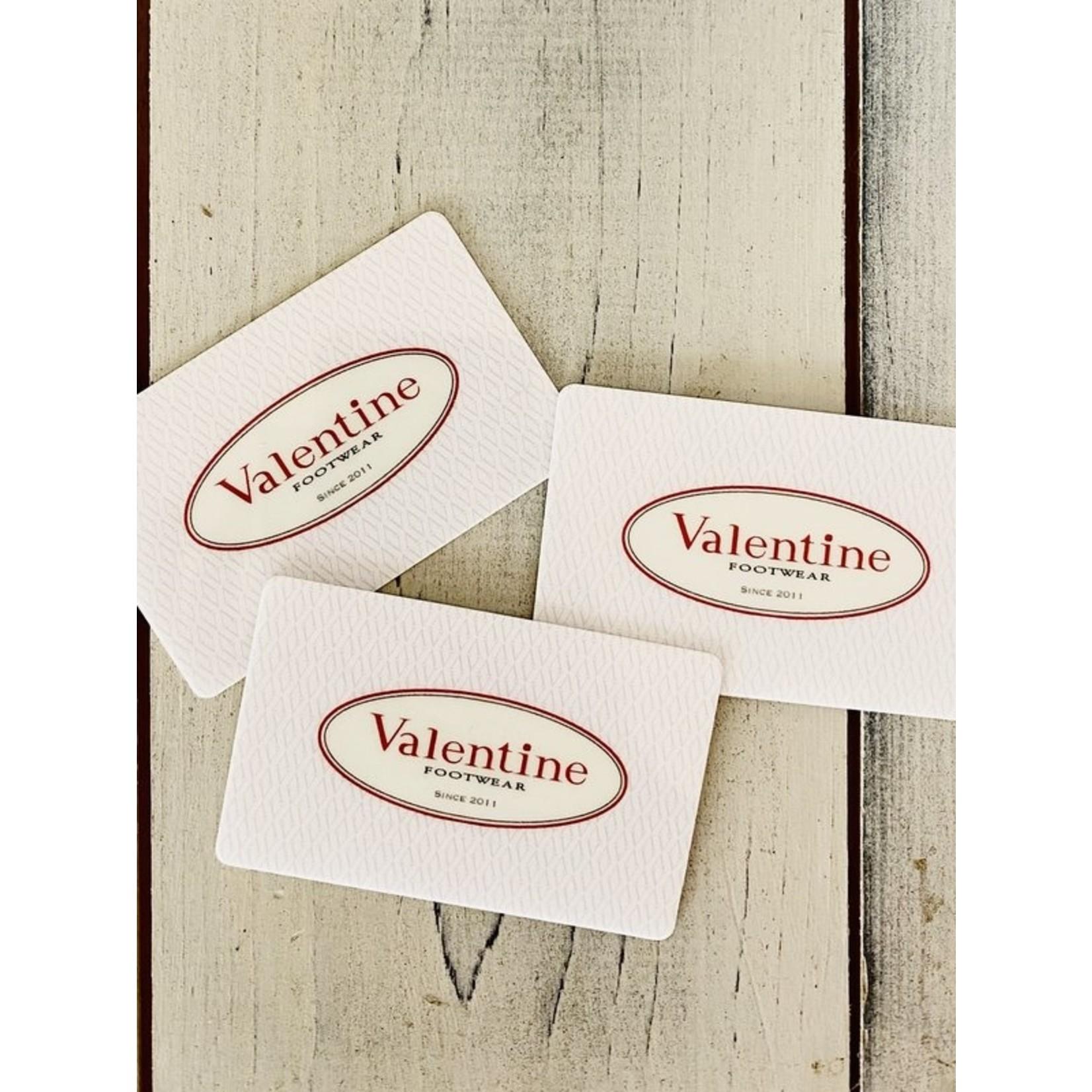 Valentine Footwear $100 Gift Card