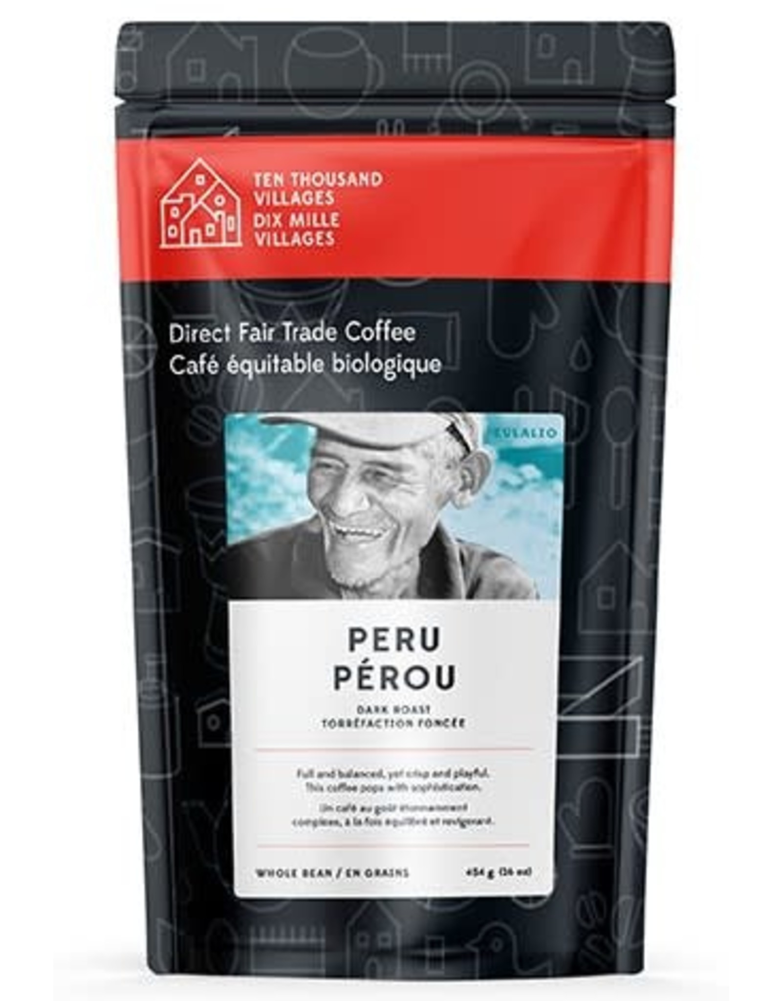 Level Ground Trading Peruvian Dark Roast Coffee (Beans)