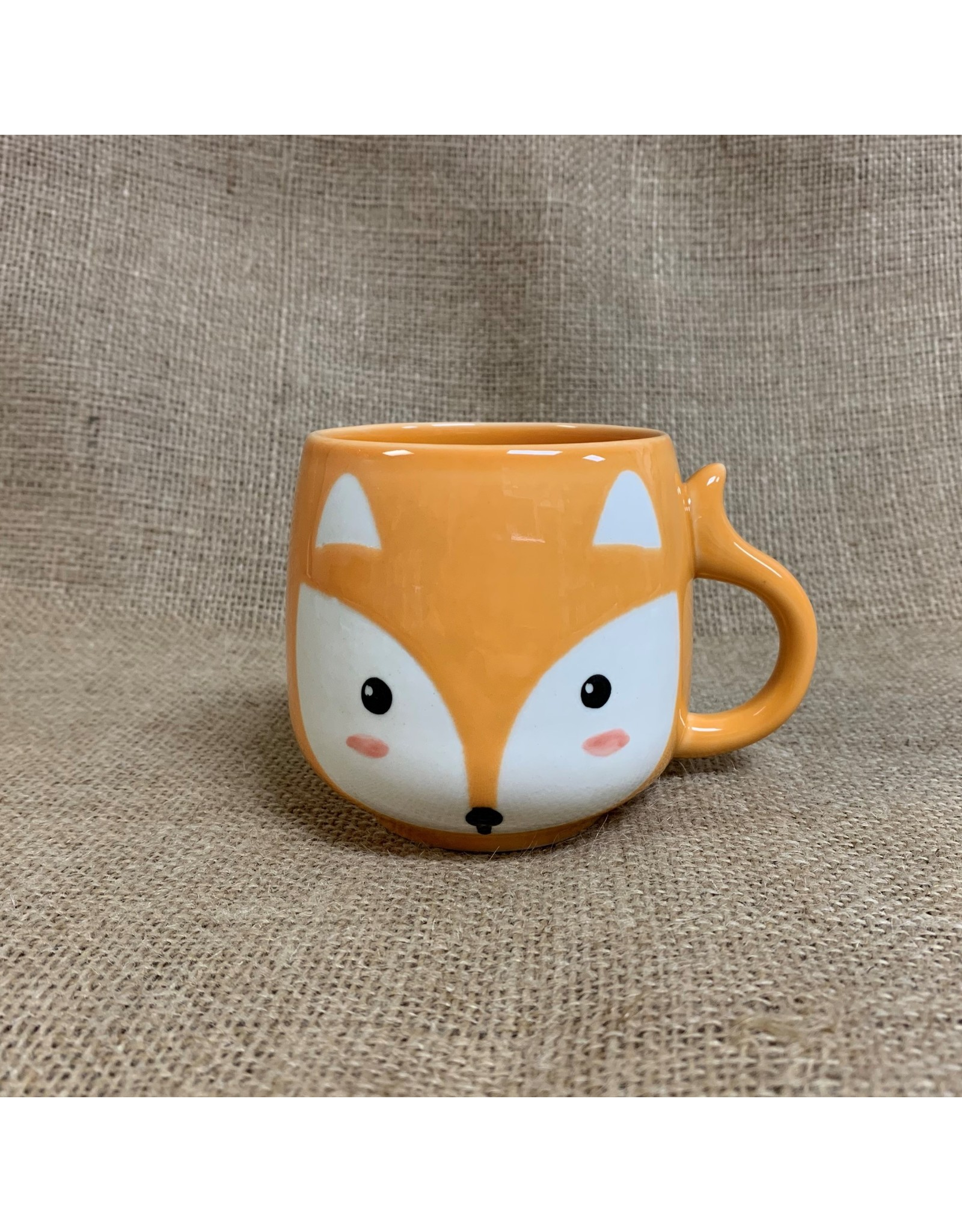 Ten Thousand Villages Fox Ceramic Mug