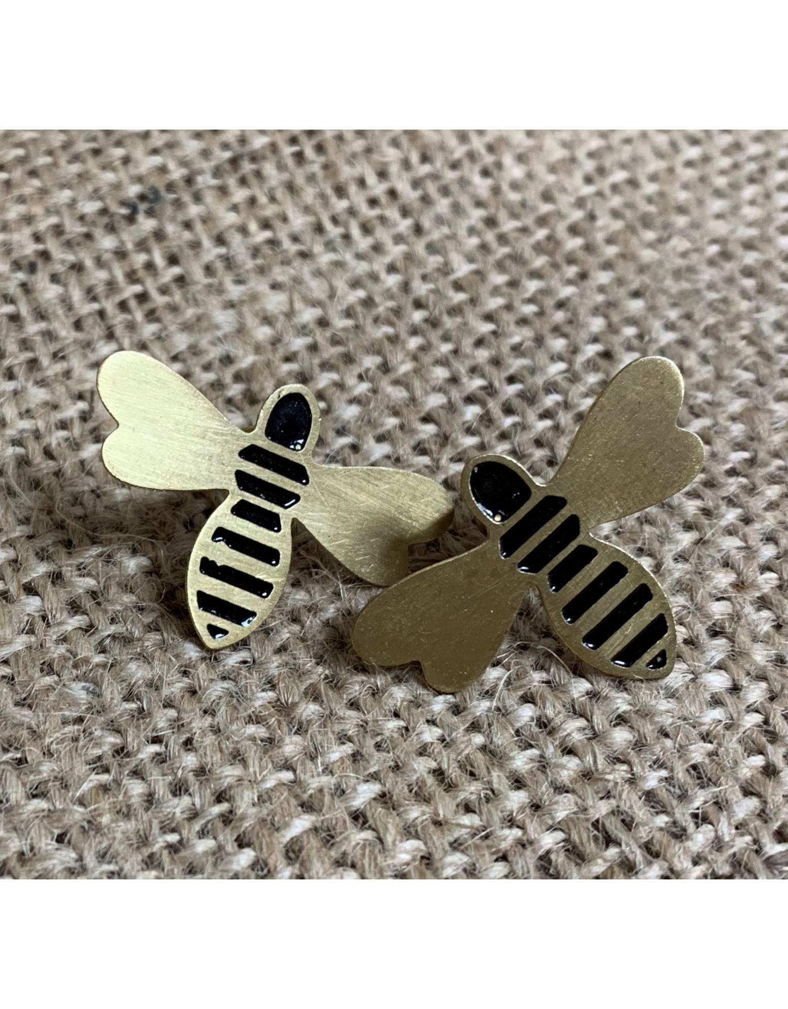 Earrings Honey Bee Studs