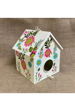 Ten Thousand Villages CLEARANCE Metal Birdhouse with Bright Floral, India