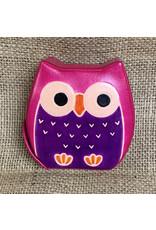 Ten Thousand Villages Chubby Owl Bank